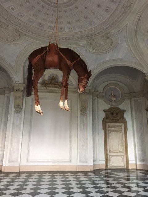 Hanging horse