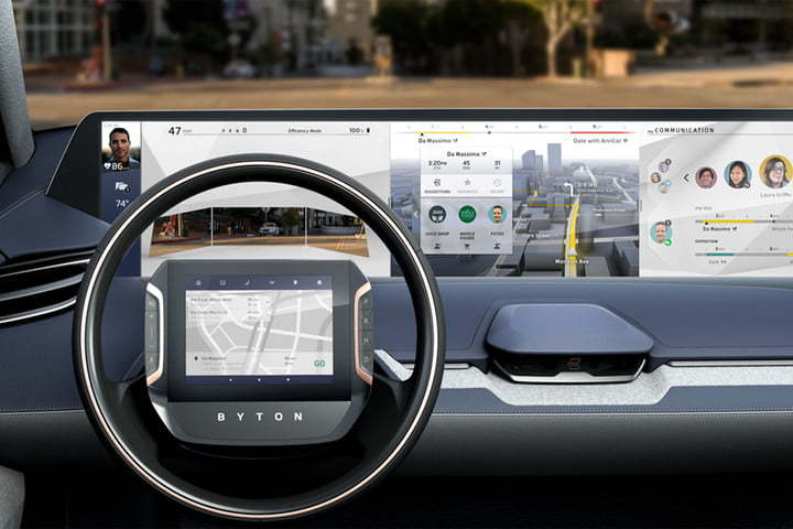 Byton Electric Vehicle- dashboard view